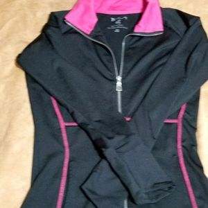 Black and pink athletic jacket